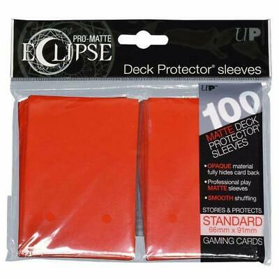 DECK PROTECTORS STANDARD-100ct Pro Matte ECLIPSE 66 x 91mm Red Sleeves