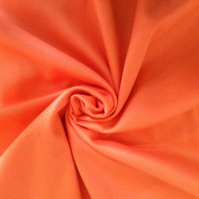 """100% PURE COTTON ORANGE PLAIN FABRIC HUGE 44"""" wide BY THE METRE, CRAFT, QUILTING"""