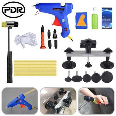 PDR Tool Kits Paintless Dent Repair Puller LIfter Tap Down Hammer Pen Glue Gun