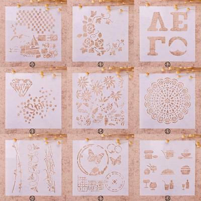 Painting Stencil Kids Chrildren Gift DIY Craft Album Xmas Decor BA99 ba&au