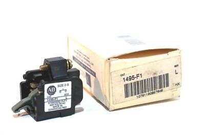 New Allen Bradley 1495-F1 Auxiliary Contact Ser.l 1495F1