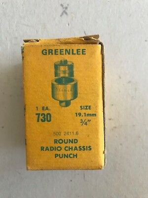 "Greenlee Radio Chassis Knockout Punch 3/4"" Dia."