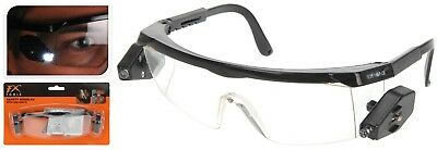Work Safety Goggles with Led Lights Adjustable Clear Protective Safety Glasses