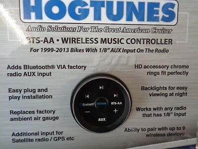 Hogtunes Bluetooth® Wireless Receiver Music Controller Harley 1999-13 4401-0203