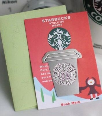 Starbucks Coffee Theme Bookmark Paper Clip Gift Page Holder