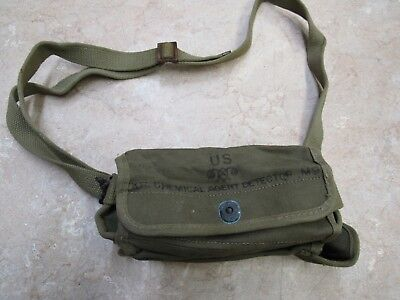 Ww2 Us Military Chemical Agent Detector Kit Pouch M9 Khaki Us Army