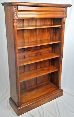 New Solid Mahogany Open Bookcase With Four Adjustable Shelves. Free Delivery
