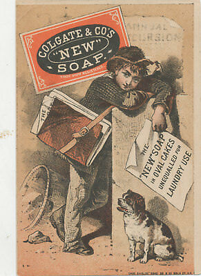 C7971   Victorian Trade Card  Colgate New Soap Patron Variety