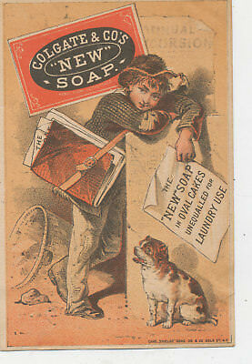 C7952   Victorian Trade Card  Colgate New Soap