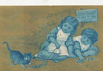 C7989  Victorian Trade Card  M L Brown Co   Patterns Sewing