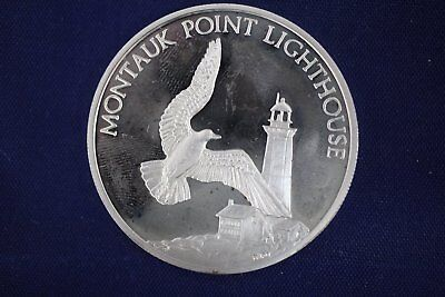 1981 New York Silver Collection 3/4 oz Sterling Coin - Montauk Point Lighthouse