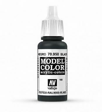 Vallejo Model Color 17ml Acrylic Paint - 950 Matt Black