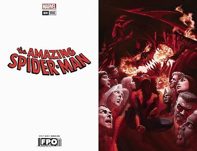 Amazing Spiderman 800 Alex Ross 1:500 Virgin Variant Nm Red Goblin
