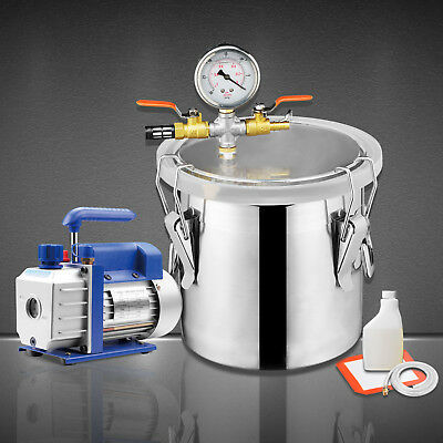 5 Gallon Vacuum Chamber + 3 CFM Single Stage Pump Degassing Silicone Kit
