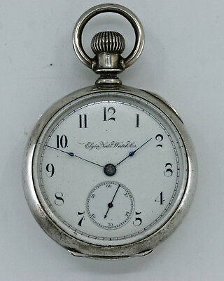 Circa 1886 Size 18 Elgin 15 Jewel Convertible Coin Silver Pocket Watch - No Rsv