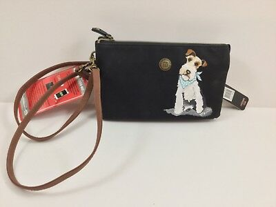 hand painted wire fox terrier Stone Mountain leather smartphone charger