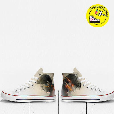 6fb33abd5f2a Sam and Dean Supernatural fanart Custom Hi Top shoes PROSPECT AVENUE  sneakers