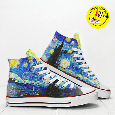840188356b01 Starry Night van Gogh Custom Hi Top designer s shoes PROSPECT AVENUE  sneakers
