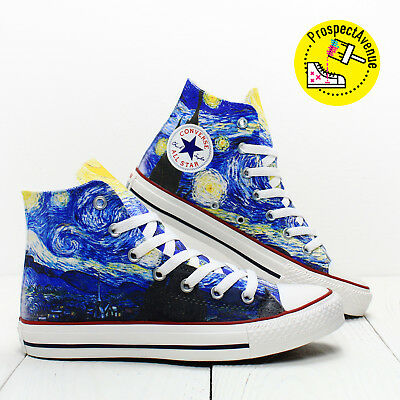 69aa9c71c4be Van Gogh Starry Night Custom Converse All Star chucks Doctor Who running  shoes