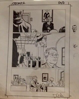 Outcast Original Comic Art Page / Robert Kirkman / First Appearance Of Sidney