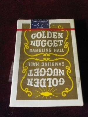 Vintage Golden Nugget Casino Playing Cards Brown Complete Deck UNUSED