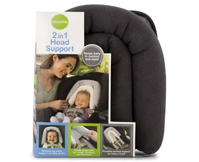 Playette 2 in 1 Head Support Charcoal  (Pram Stroller Capsule Insert )