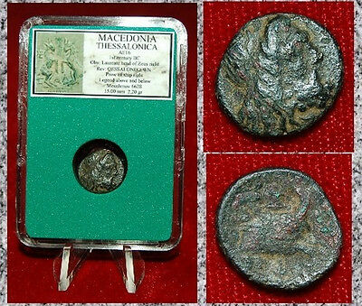 Ancient GREEK Coin MACEDONIA THESSALONICA Zeus On Obverse Prow Of Ship Reverse