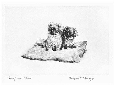 Pekingese Puppy Dogs 1923 Marguerite Kirmse  8 LARGE New Blank Note Cards