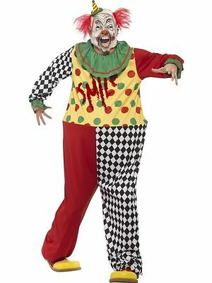 Sinister Clown Costume, Large, Halloween Fancy Dress, Mens