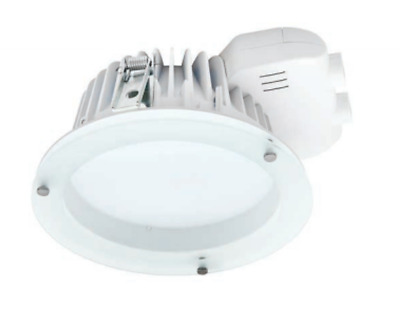 23W 4000K 8 Inch  235mm Premium Grade Commercial LED Downlight with Drop Glass