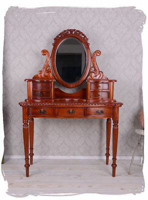 Poudreuse Antique Make-Up Table Dressing Table Mirror Table Dressing Table Wood