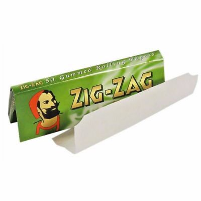 Zig Zag Green Standard Regular Cigarette Rolling Paper - Buy 1 to 100 Booklets