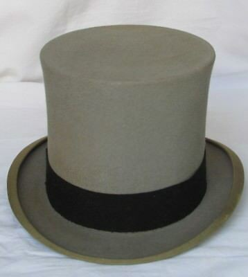 Gray tube hat early 900s CHRISTYS' LONDON