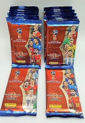 PANINI ADRENALYN XL World Cup Russia 2018 50 BOOSTER BUSTINE TRADING CARDS WM WC