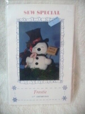 "Craft Pattern FROSTIE 17"" Centerpiece or Stuffed Toy For Christmas Uncut Unused!"