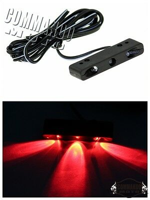 Water+Vibration proof Motorcycle LED Red License Plate Rear Light Lamp Universal