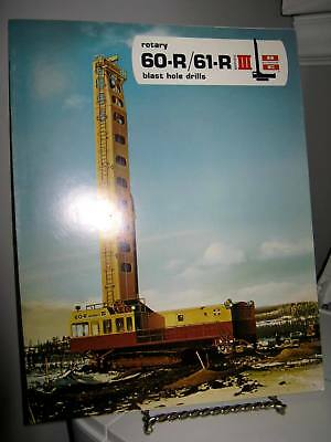 Bucyrus-Erie 60-R 61-R Blast Hole Drill Mining - 6 Page Sales Ad Brochure - VG