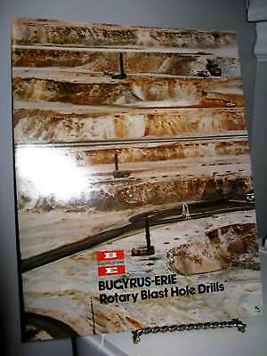 Bucyrus-Erie Rotary Blast Hole Drill Mining - 10 Page Sales Ad Brochure - VG