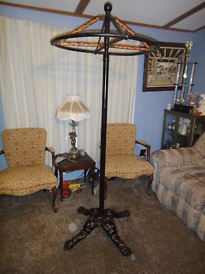 Antique  Cast Iron Revolving Circular Clothing Rack Coat Rack Vintage Round
