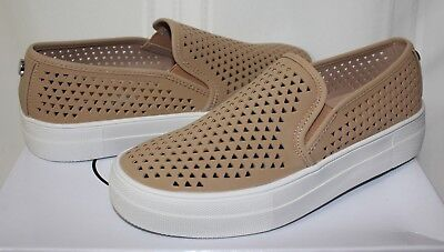 24d542043ae Steve Madden Gal P Perforated Sneaker style shoes Camel Natural New With Box