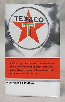 1937 TEXACO postcard S338-8 6-1937 unused