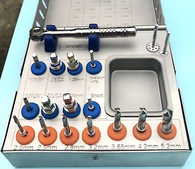 Dental Implant Surgical Drill Kit 18 Pcs Saw Disk Tools Wrench Ratchet New