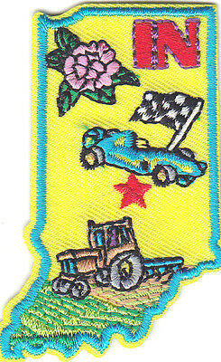 INDIANA STATE SHAPE Iron On Patch States