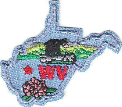 WEST VIRGINIA STATE SHAPE Iron On Patch
