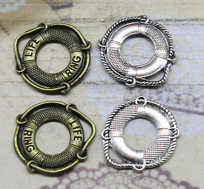 "10/30pcs Fashion New product Letter ""LIFE RING"" swimming laps charm pendant"