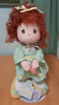 "Precious Moments by Applause Curly Red Hair friendship Doll 11"" h  green dress"