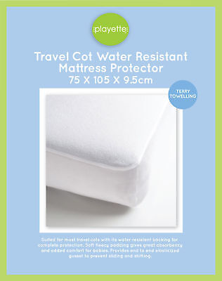 Playette - Travel Cot Mattress Protector 75 x 105  (Free Carrot ToothBrush)