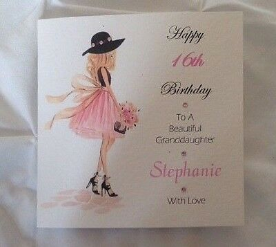 Handmade Personalised Birthday Card 18th 21st DAUGHTER SISTER GRANDDAUGHTER