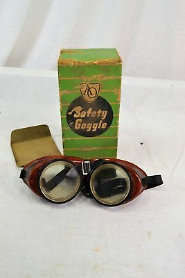 Vintage Ao Safety Goggles American Optical Motorcycle Avaiator Glasses Nos