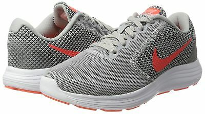 sports shoes fe4ec ee615 Nike REVOLUTION 3 Womens MEDIUM and WIDE Wolf Grey Hyper Orange Running  Shoes